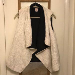 White Mossimo Fuzzy Vest